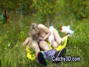 Seks z dziewczyna na polanie